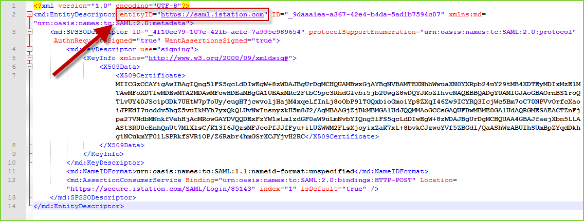 PortalGuard SAML - entityID Example