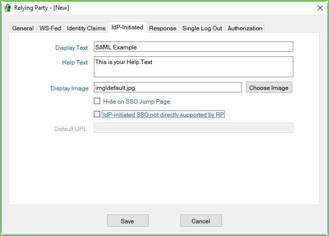 PortalGuard SAML - IdP Init Example