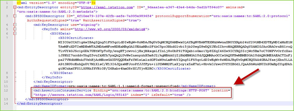 PortalGuard SAML - ACSURL Example