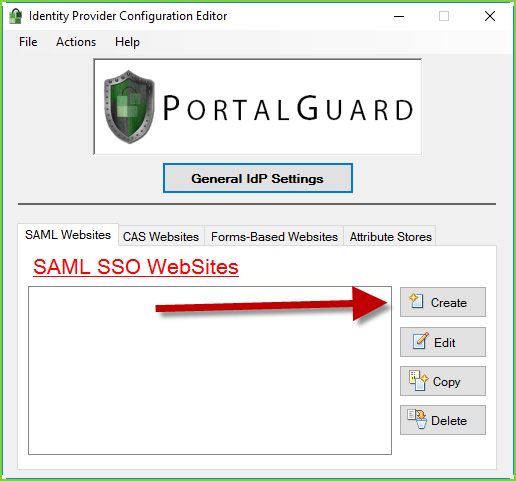 PortalGuard SAML - Create
