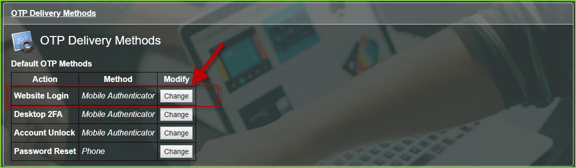PortalGuard 2FA - Default OTP