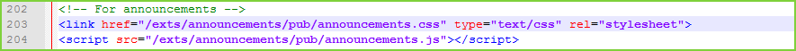 Announcements - CSS Uncomment