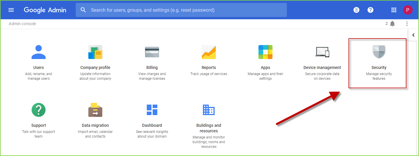 PortalGuard SSO - Google Apps - Admin Page Security
