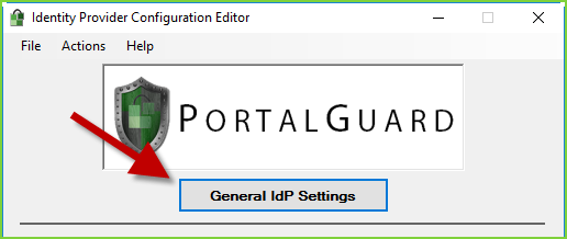 PortalGuard - General IdP Settings - Button