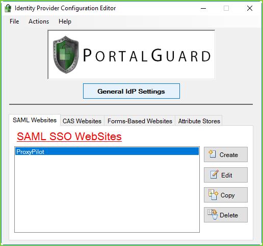 PortalGuard IdP - ProxyPilot