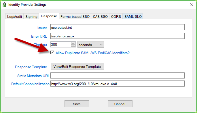 PortalGuard IdP - ProxyPilot - Duplicate IDs