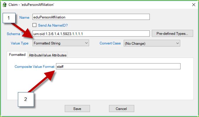 PortalGuard IdP - ProxyPilot - Affiliation Claim - Staff