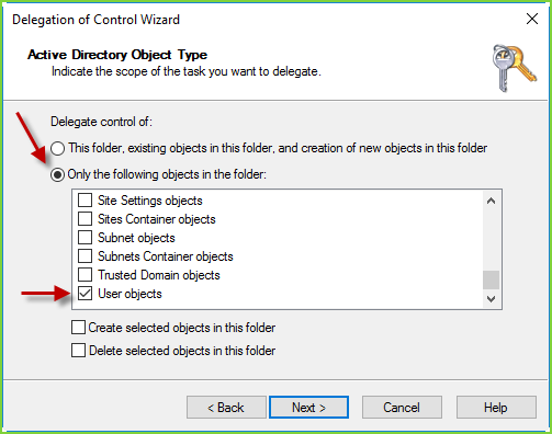 AD Delegate Permissions - User Objects