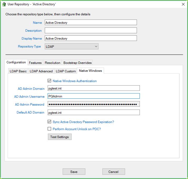 PortalGuard - Native Windows Config