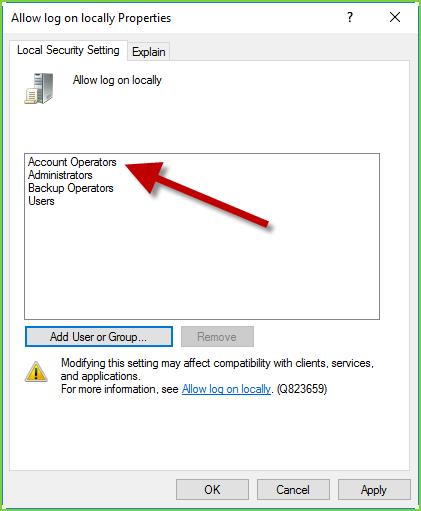 SEcPol - Add Account Operators