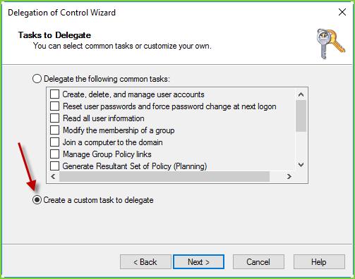 AD Delegate Permissions - Custom Task
