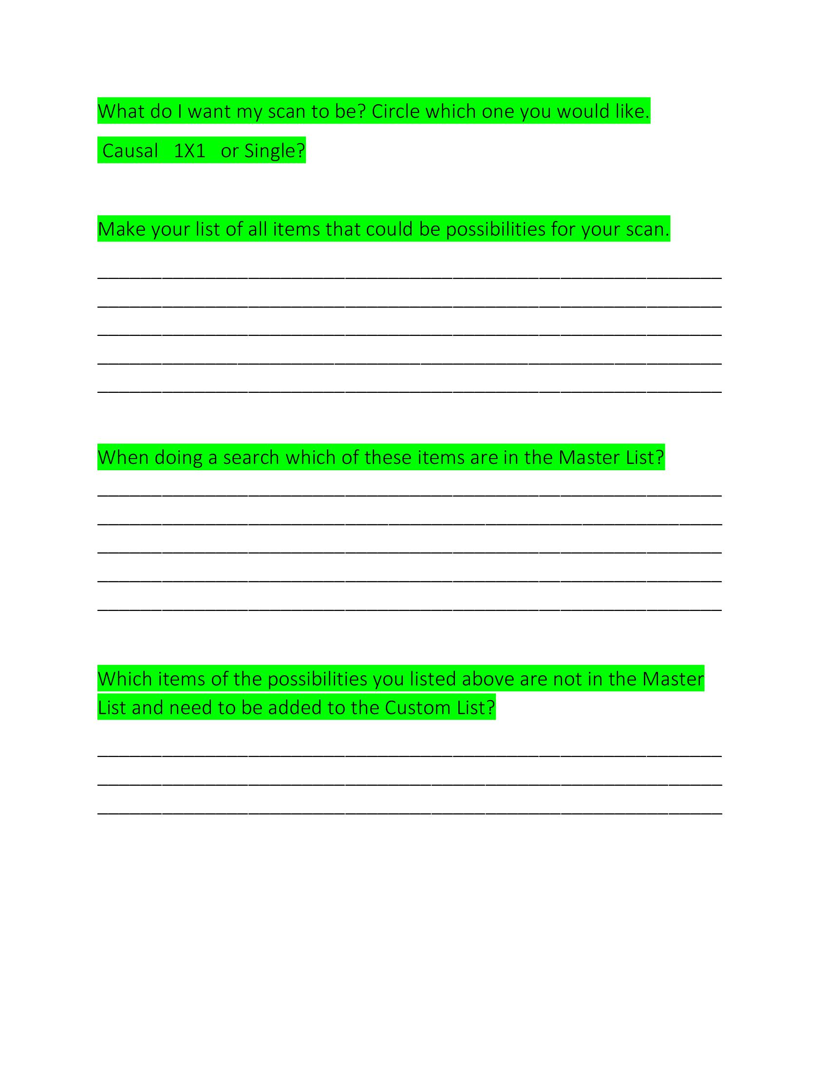 Create a Test Form
