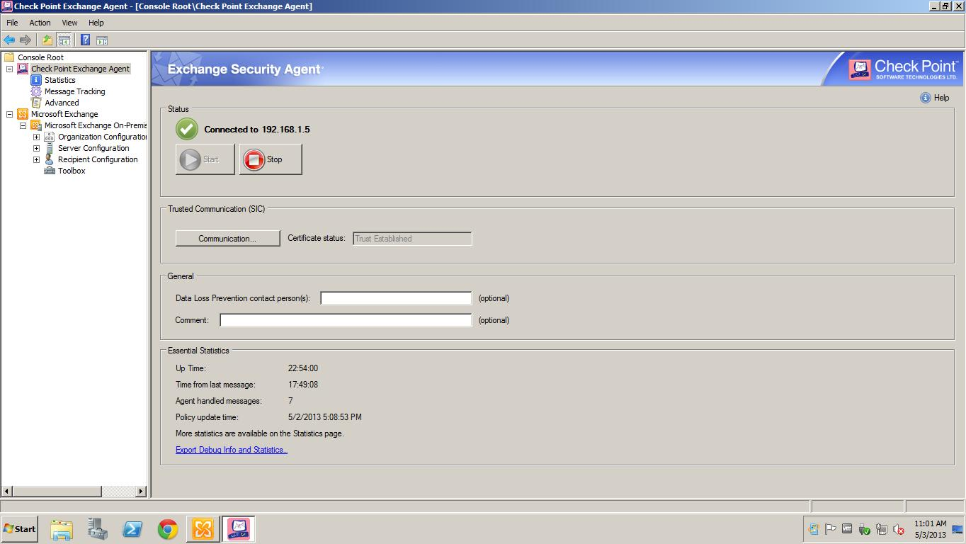 KB000050- DLP CONFIGURATION WITH EXCHANGE AGENT - QOS CCSP