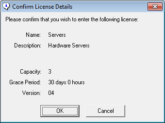 Confirm License Details