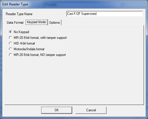 Reader Type - Keypad Mode