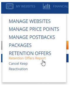 Retention Offers Report - Segpay Help Desk