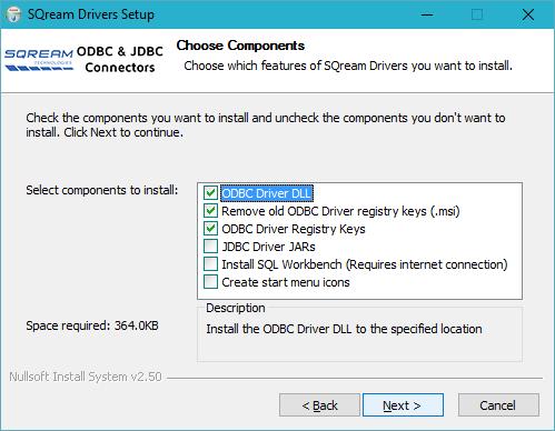 Installing the SQream ODBC Driver (Windows) - SQream DB