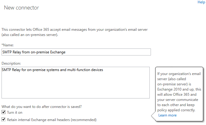 How to configure an Office 365 SMTP Relay Connector