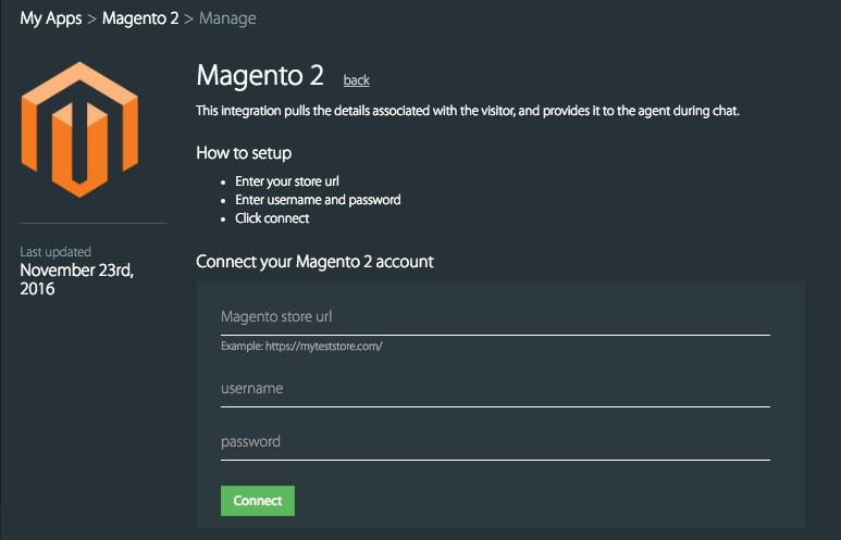 How to integrate with Magento 2 - HappyFox Chat