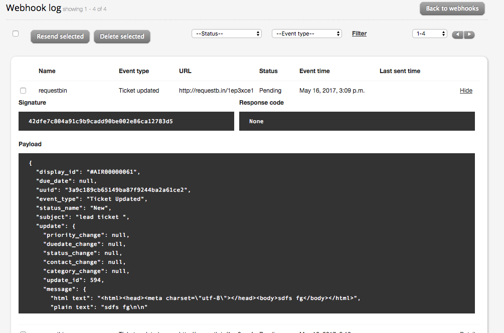 Create and Manage Webhooks - HappyFox Support