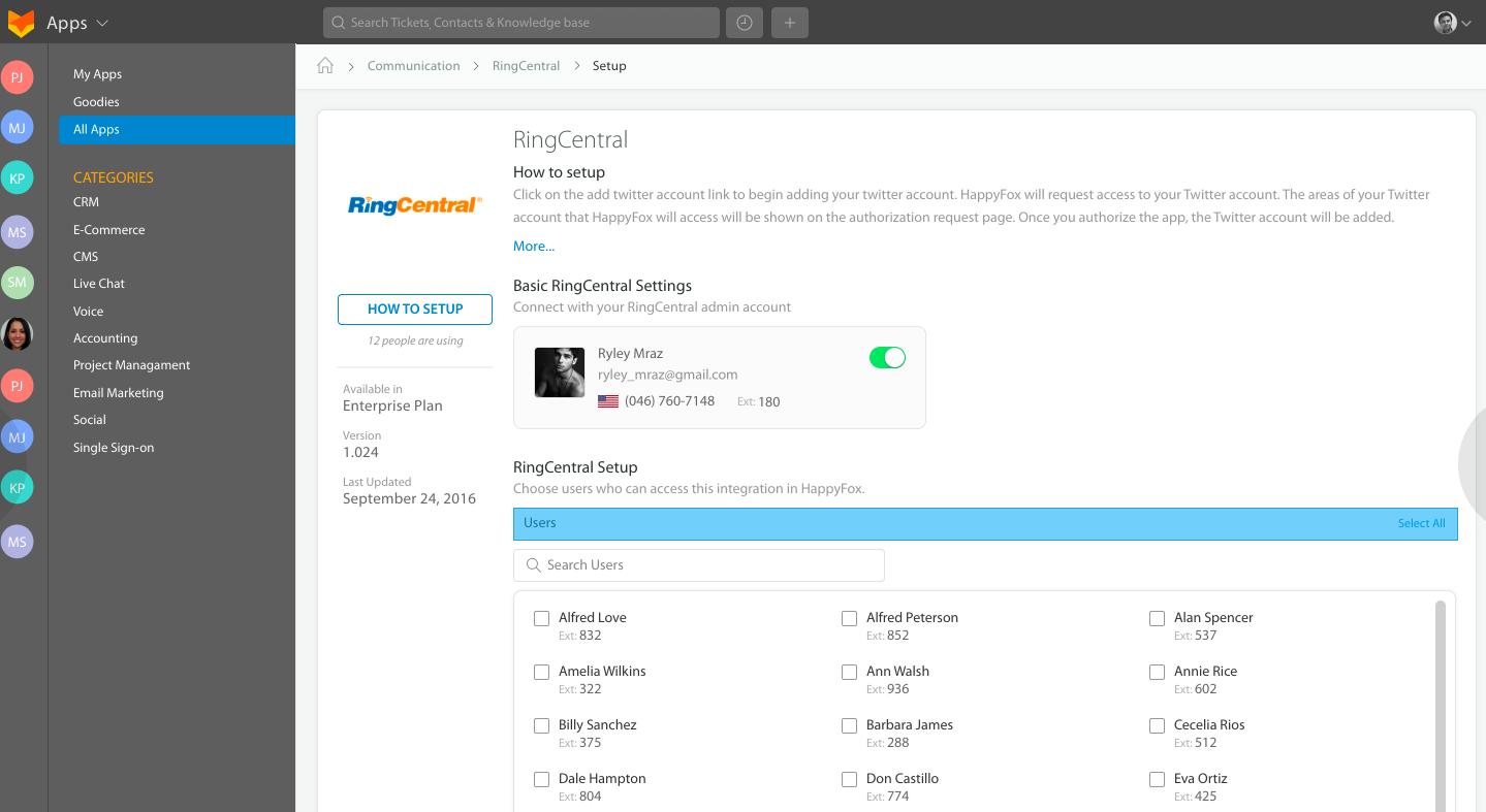 Madison : Ringcentral app login