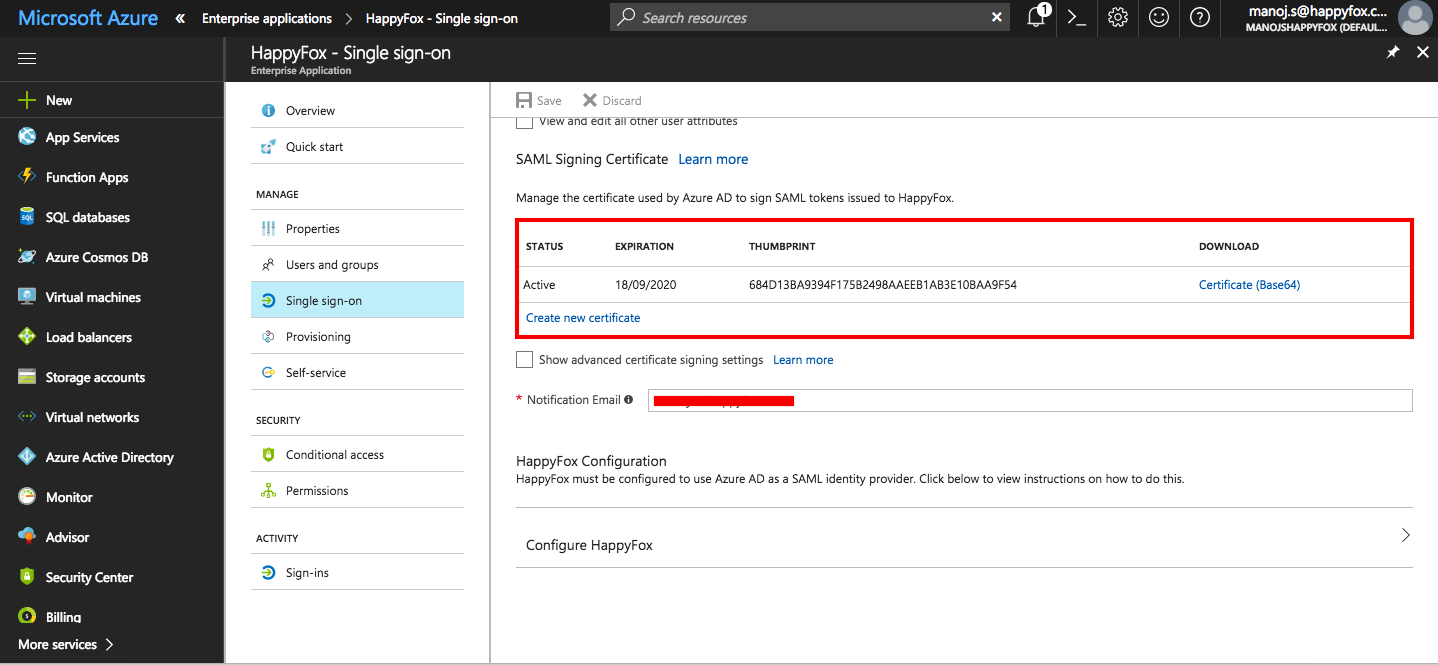 Enable Azure Active Directory SSO for your HappyFox account