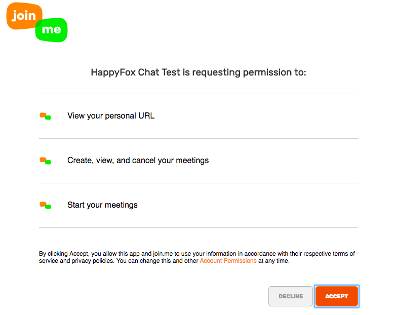 How to enable join me integration - HappyFox Chat