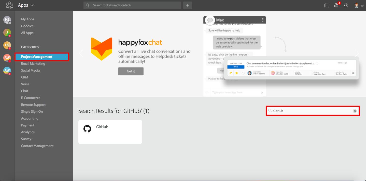 Configure GitHub Integration with HappyFox - HappyFox Support