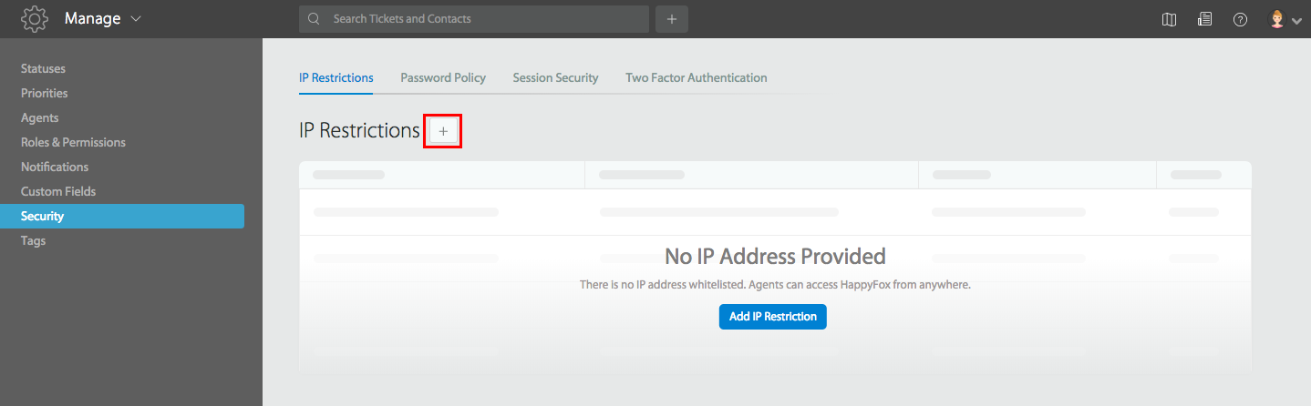 Restrict access to HappyFox based on agent IP - HappyFox Support