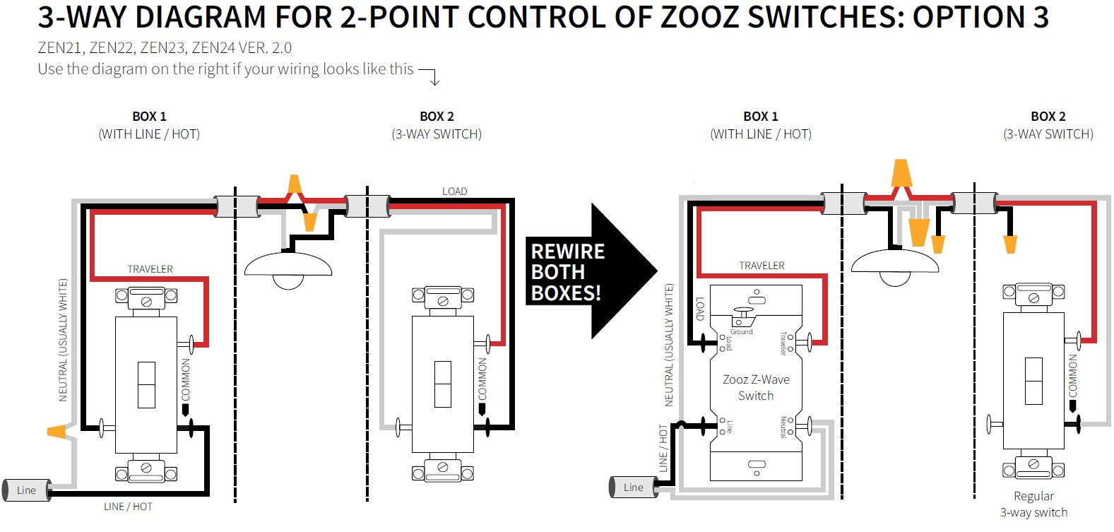 Way Wiring Diagram Options on