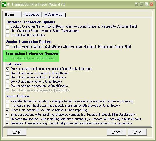 Import Checks To Be Printed in QuickBooks Desktop