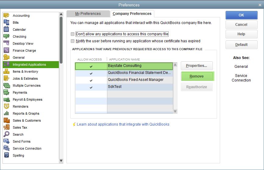 Disconnect Transaction Pro from QuickBooks Desktop