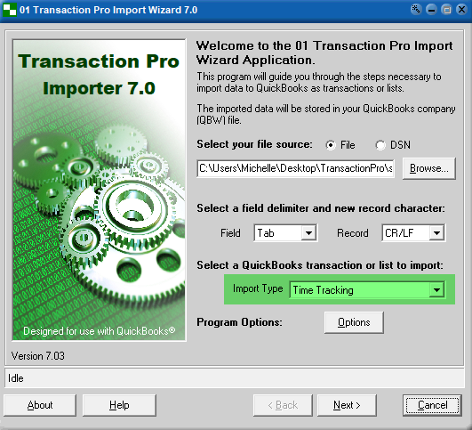 Import Time Tracking into QuickBooks Desktop - Transaction Pro