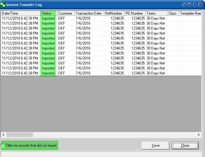 JOOR Sales Transaction Invoice Import into QuickBooks