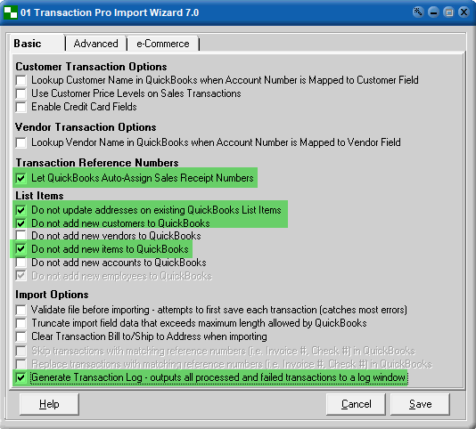 JOOR Sales Transaction Sales Receipt Import into QuickBooks