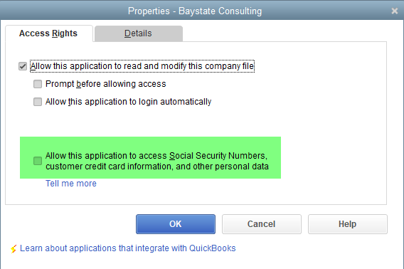 Employees QuickBooks: The Integrated Application has no