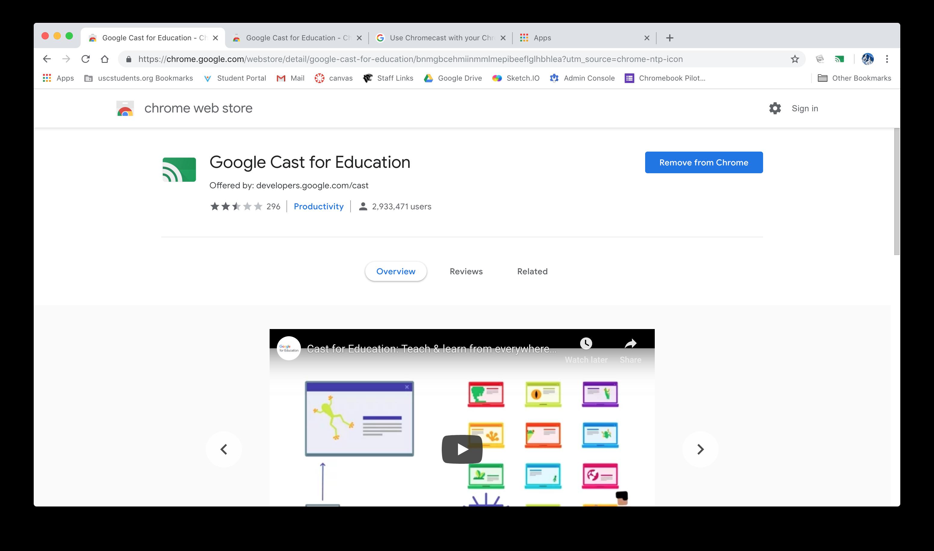 How to Screen Share a Chromebook - Teacher - USCSD Help Desk