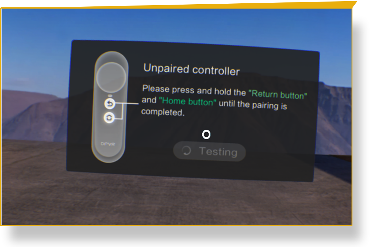 Pairing a controller with a Veative EduPro VR headset - Veative