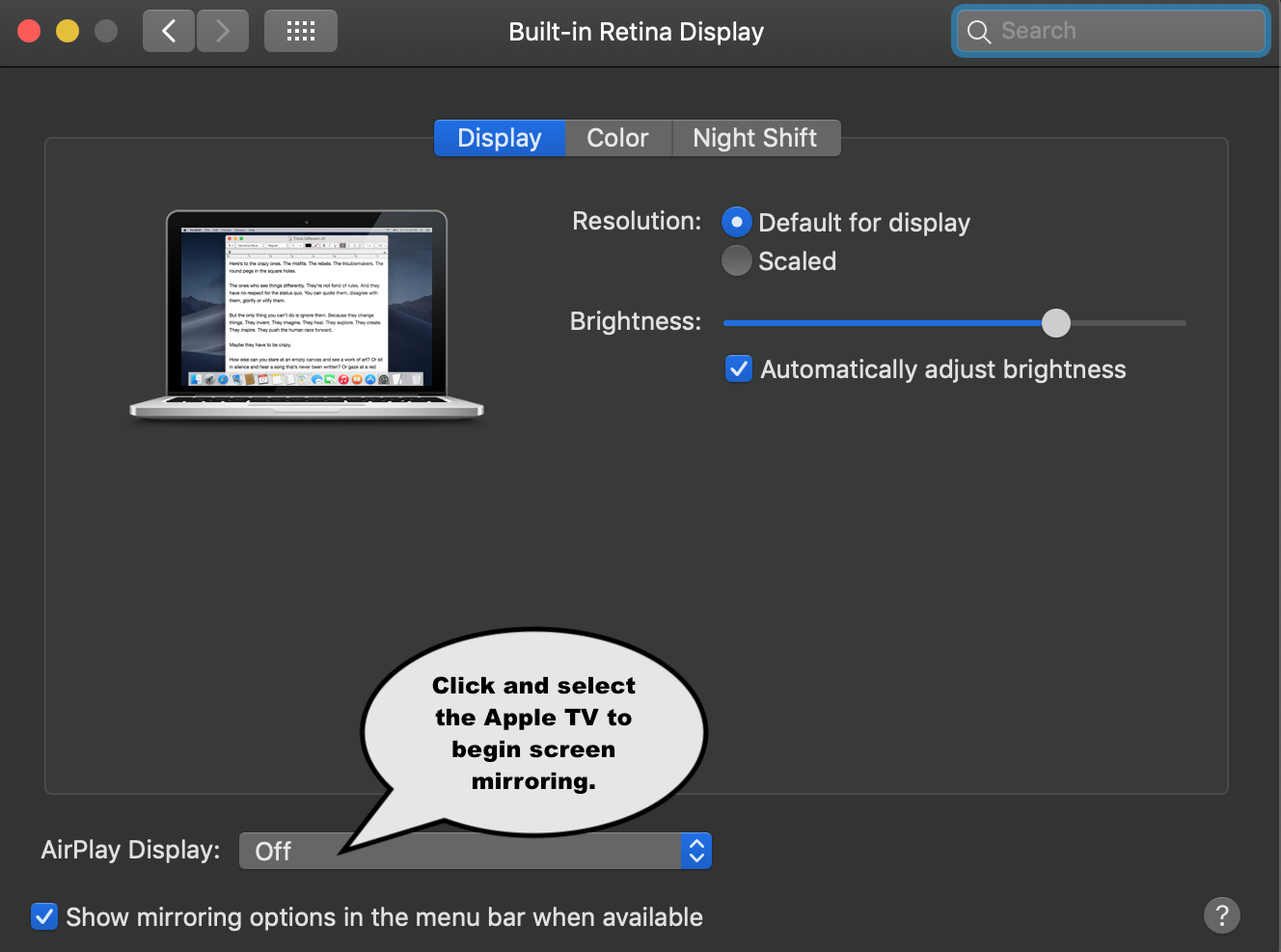How do I AirPlay from Mac to Apple TV? - WBFYC