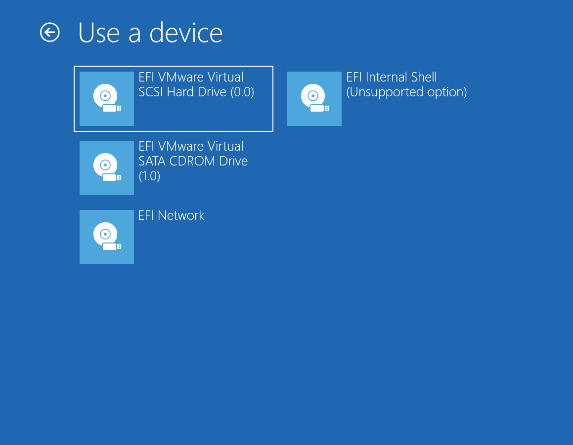 Boot from a USB in Windows 10 (UEFI) - WhiteCanyon