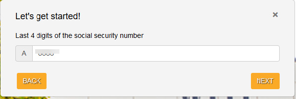 input last four numbers of your social security number