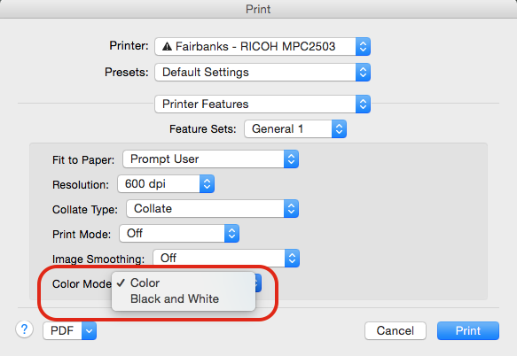 Once Selected You Can Print Your Current Document In Black And White Rather Than Color