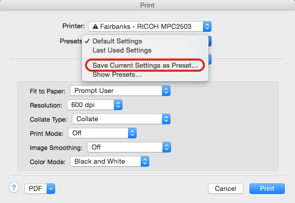 Printing In Black And White On Apple Computers