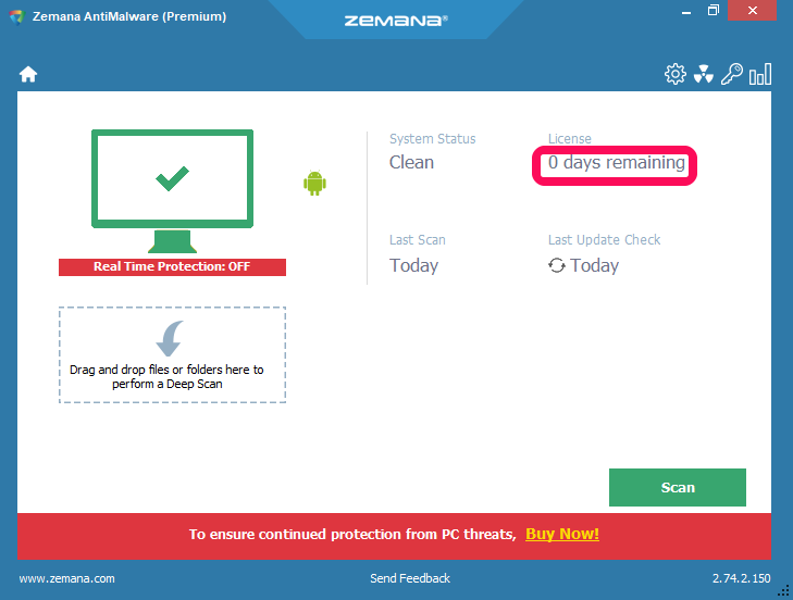free zemana antimalware key